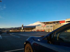 うちの86と富士山