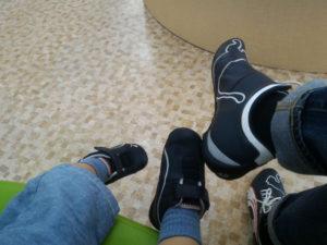親子でプーマの靴